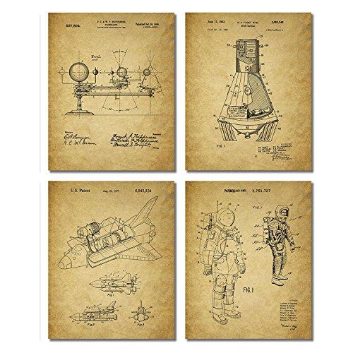 space-patent-prints-set-of-four-vintage-wall-art-photos