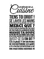 ZZ-Ambiance-sticker Vinilo Decorativo Les Règles De La Cuisine Wall Decal