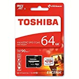 #1: Toshiba Exceria M302 64GB Micro SDXC Memory Card 90 MB/s 4K - Recommended for Action Cameras, GoPRO Hero 4 & Hero 5