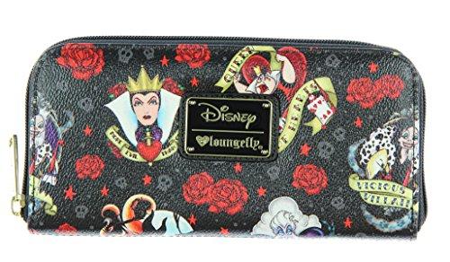 loungefly-disney-female-villains-roses-evil-queen-maleficent-cruella-wallet