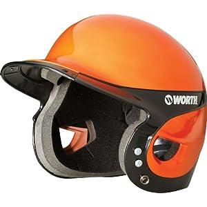 Worth Adult Liberty Home Batting Helmet, Orange/Black