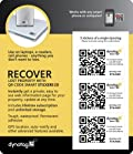 Dynotag® Web/GPS Enabled QR Code Smart Tags - Super Tough. Ready to Use, 3 Sticker Set