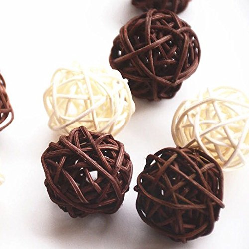 10 pcs Round Natural Decorative Bambbo Wood Balls