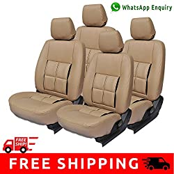 Autofact Brand PU Leatherite Car Seat Covers for Maruti Car 800 Old Model in Full Beige in Box Design