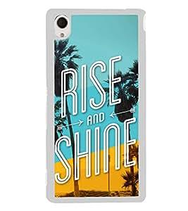 Rise and Shine 2D Hard Polycarbonate Designer Back Case Cover for Sony Xperia M4 Aqua :: Sony Xperia M4 Aqua Dual