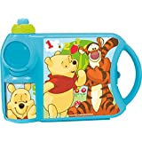 DISNEY POOH SCHOOL CANTEEN SET 52171-PH, LUNCH BOX AND SIPPER BOTTLE SET BY HMI
