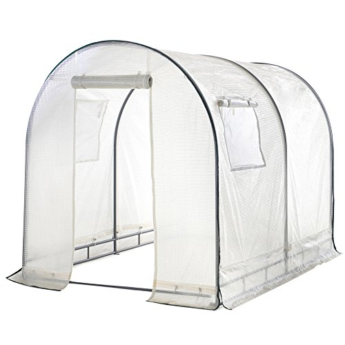 Abba-Patio-Walk-in-Greenhouse-Fully-Enclosed-Lawn-and-Garden-Portable-Outdoor-Tent-with-Windows-6x66x8-Ft-White