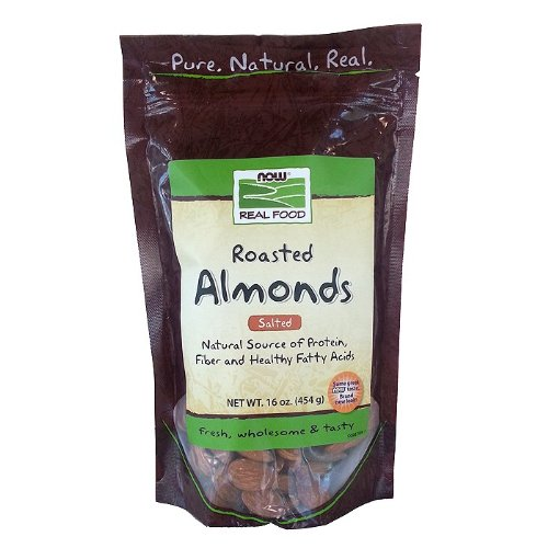 Now Foods Almonds Roasted And Salted - 1 Lb. ( Multi-Pack)