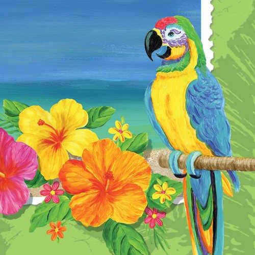 Tropical Vacation Luncheon Napkin, 3 Ply (12pks Case)