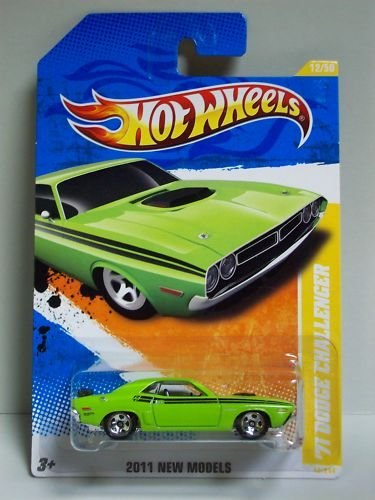 2011 Hot Wheels 12/244 - New Models - '71 Dodge Challenger (Green)