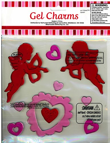 Cupid with Arrows and Hearts Valentine's Day Gel Window Clings - 1