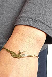 Vintage Jewelry - Come Fly With Me Vintage Swallow Bird Antique Bronze Bracelet - Boxed & Gift Wrapped