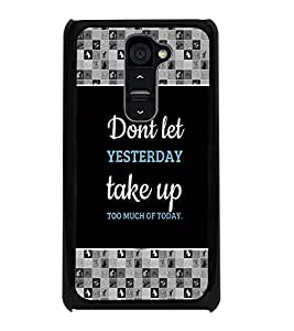 PrintDhaba Quote D-4139 Back Case Cover for LG G2 (Multi-Coloured)