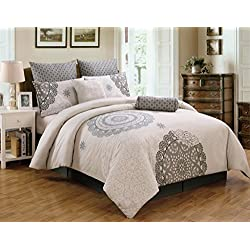 8 Piece Queen Antheia 100% Cotton Comforter Set