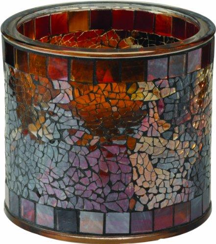 Westinghouse 791002-MS2MR Mosaic Glass Table Top Solar Patio Light, Medium, Design Number-2, 2-Piece Set