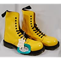 Yellow Solovair Eyelet Boots
