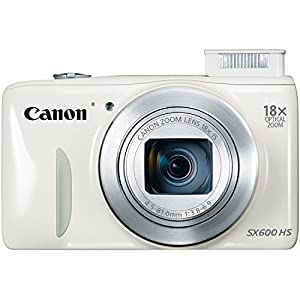 Canon PowerShot SX600 HS 16MP Digital Camera (White)