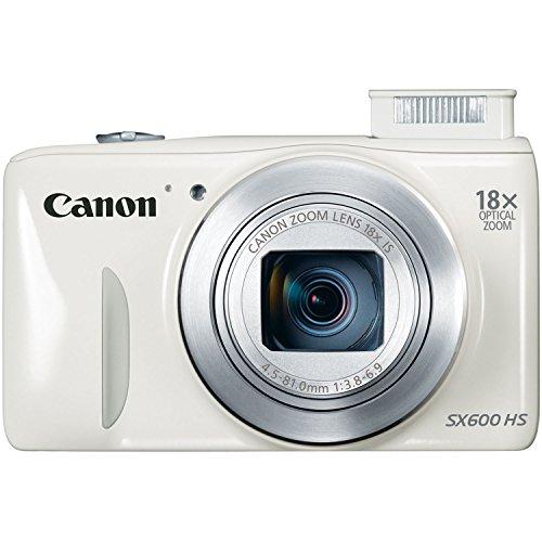 Canon PowerShot SX600 HS 16MP Digital Camera (White) (Canon Sx600 Hs Camera compare prices)