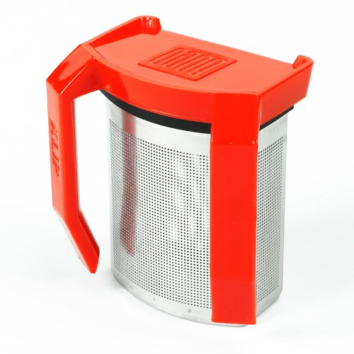 Boco Clip-On Tea Infuser W/ Drip Catcher. Sip While Brewing Too! (Klip - Red)