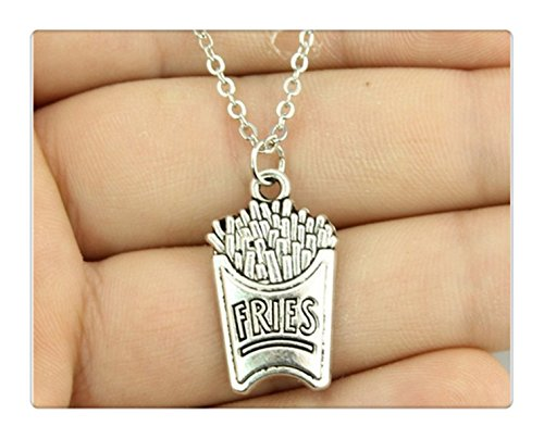 antique silver 25*15mm French fries necklace (French Fry Necklace compare prices)