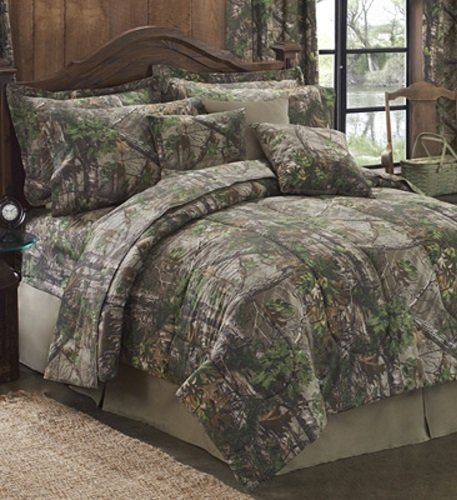 Matching Bedroom And Bathroom Sets: Realtree Xtra Green Camo (Camouflage) 8 Pc King Comforter