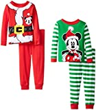 Mickey Mouse Little Boys' Holiday Four-Piece Pajama Set