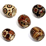 Housweety 100 Mixed Painted Drum Wood Spacer Beads 17x16mm