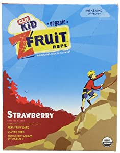 Clif Kid Fruit Ropes, Strawberry, 18 Count