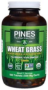 Pines International Wheat Grass Powder 500 mg 500 tabs