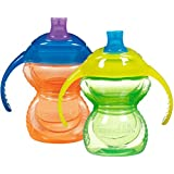 Munchkin Click Lock Trainer Cup, Green/Orange, 2 Count, 7 Ounce