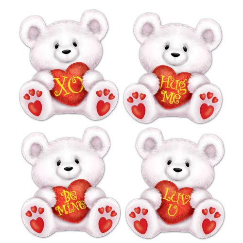 Mini Valentine Bear Cutouts   (10/Pkg)