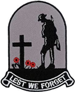 "Lest We Forget Embroidered Patch 6cm x 7.5cm (2 1/4"" x 3"") Sew On/Iron On by Another Quality product from Klicnow"