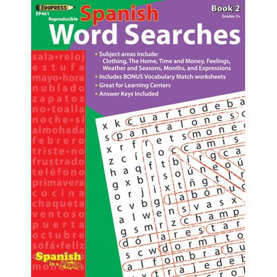 Edupress Ep-461 Spanish In A Flash Word Searches 2