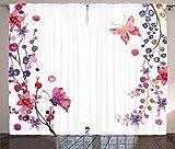 """デジタル印刷カーテン寝室リビングKids Youth部屋2つのパネルカーテンセット 108"""" W By 84"""" L p_15902_Butterflies_108x84_fba"""