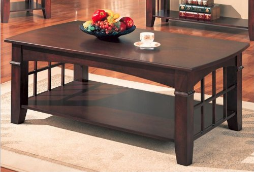 Deals Coaster Abernathy Rectangular Coffee Table With Shelf Shopping