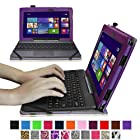 Fintie Folio Case for ASUS Transformer Book T100 Window 8.1 Tablet 10.1-Inch Premium Leather Cover with Stylus Holder - Violet