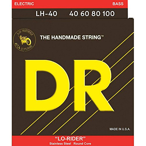 Dr Strings Lo-Rider - Stainless Steel Hex Core Bass 40-100