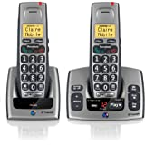 BT Freestyle 750 Twin DECT TAM Phone - Titanium Greyby BT