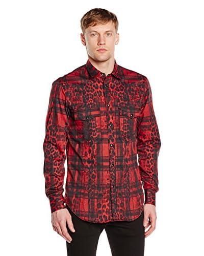 Just Cavalli Camisa Hombre Rojo