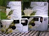 Photography - 10 Pack Calla Lily Disposable Wedding Cameras in Matching Gift Boxes with Table Tents, 35mm, 27 Exposures