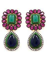 Akshim Multicolour Alloy Earrings For Women - B00NPY93Q0