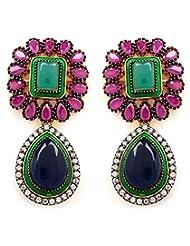 Akshim Multicolour Alloy Earrings For Women - B00NPY93Q0