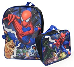 Spiderman Backpack and Lunch kit set 50475