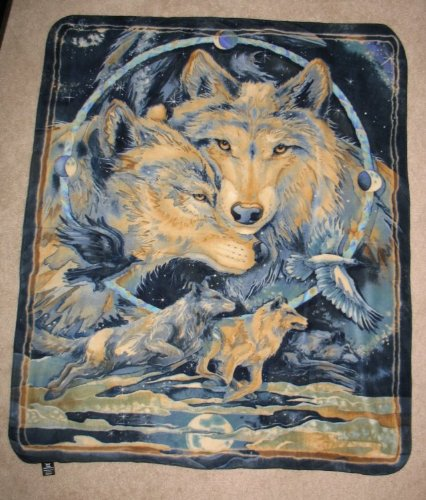 Wolf Ii Fleece Throw Blanket - In Spirit I Am Free front-462945