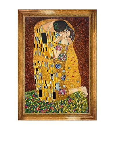 Gustav Klimt's The Kiss (Full View) Framed Hand Painted Oil On Canvas