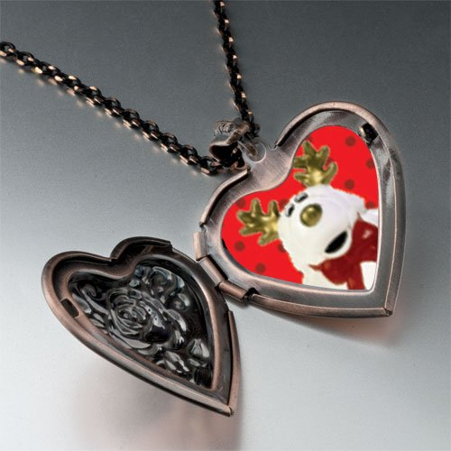 Reindeer Stuffed Animal Pendant Necklace