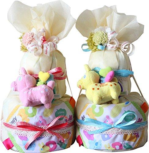 イタリア生まれのrodyで「はじめまして」のごあいさつ イエロー(S)パンパーステープ おむつケーキ 出産祝い ロディ