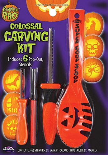 1 X Colossal Pumpkin Carving Kit (Assorted Colors) - 1
