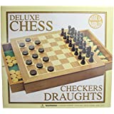 Deluxe Wooden Chess and Draughts Set