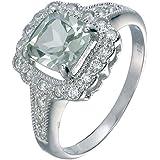 Vir Jewels, Bague Femme Argent fin 925/1000 Vert Amethyste 1.1 Karat